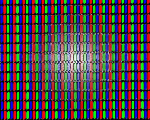 Display Lcd Screen Led Rgb Pixel Macro Red Green Blue Gregori Plgregori Pierluigigregori Poster featuring the photograph Livelli Di Realta' 6 by Pierluigi Gregori