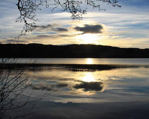Loch Venacher Poster featuring the photograph Loch Venacher Sunset by Bill Spiers
