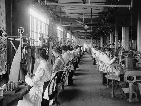 History Poster featuring the photograph Lock And Drill Department Assembly Line by Everett
