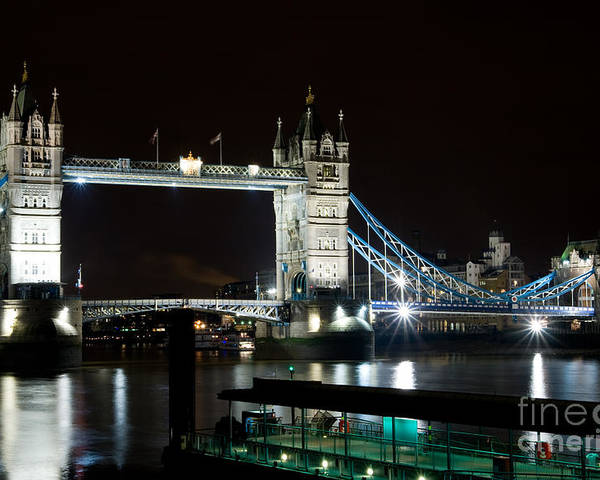 London Poster featuring the photograph London Bridge by Angel P