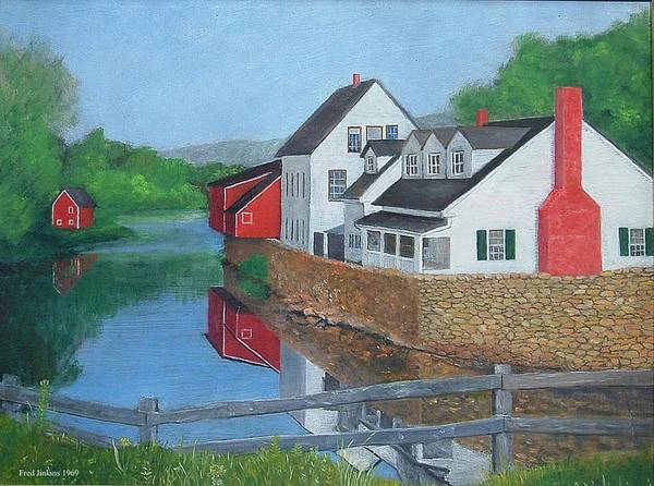 Landscape Poster featuring the painting Londonderry Vermont by Fred Jinkins