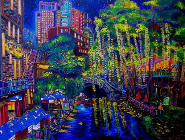San Antonio Poster featuring the painting Lone Star Evening by Patti Schermerhorn