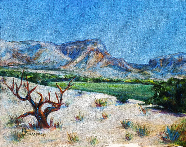 Ghost Ranch Poster featuring the digital art Lone Tree At The Ghost Ranch by M Schaefer