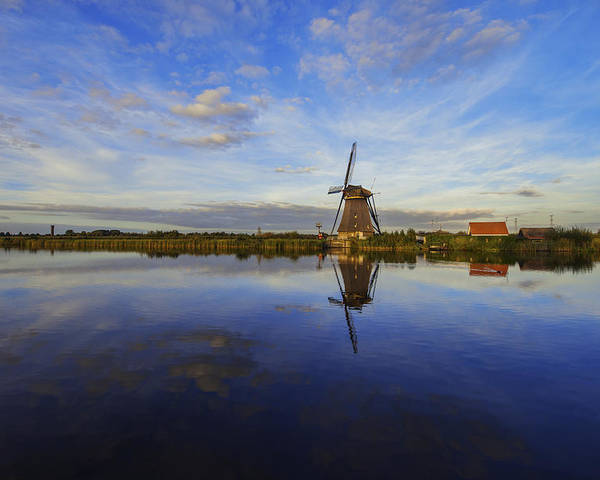 Lone Windmill Poster featuring the photograph Lone Windmill by Chad Dutson