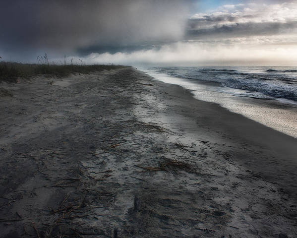 Huntington Beach Poster featuring the photograph Lonely Beach by Matt Trimble