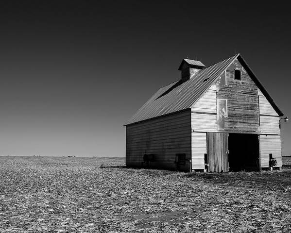 Illinois Poster featuring the photograph Lonely Old Barn by John McArthur