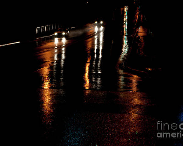 Oshawa Poster featuring the photograph Long Lights At Night by Gary Chapple