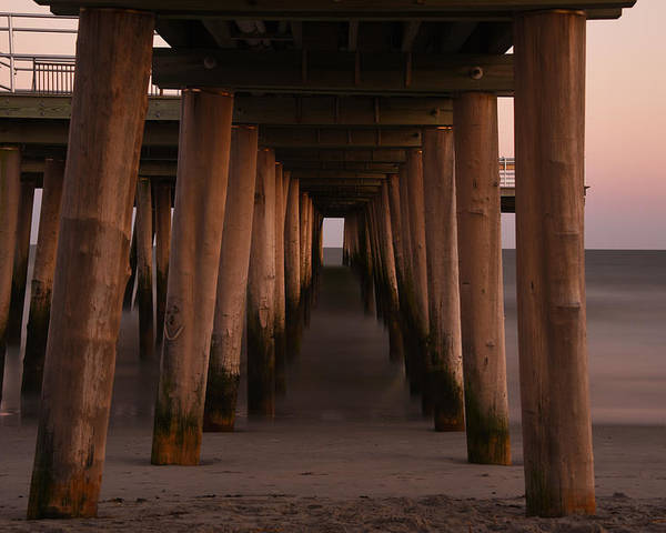 Pier Poster featuring the photograph Looking Into Infinity by Jennifer Ancker