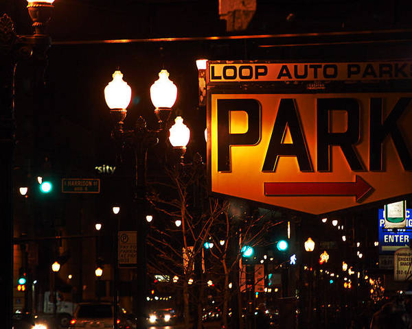 Lakeshore Drive Poster featuring the photograph Loop Auto Park by Jame Hayes