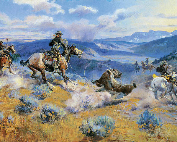 Charles Russell Poster featuring the digital art Loops And Swift Horses Are Surer Than Lead by Charles Russell
