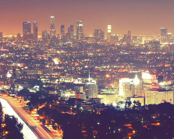 Horizontal Poster featuring the photograph Los Angeles by Dj Murdok Photos