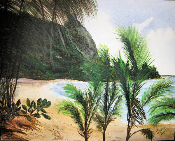 Landscape Poster featuring the painting Lost by Maris Sherwood