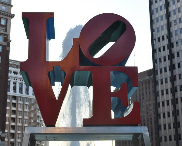 Philly Poster featuring the photograph Love by Brynn Ditsche