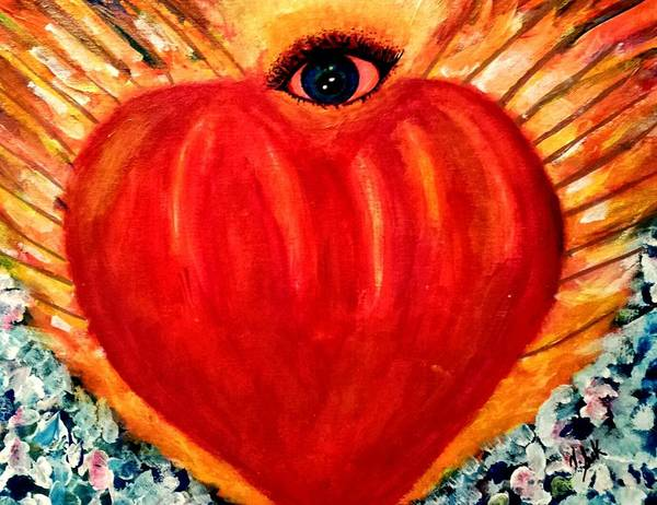 Love Poster featuring the painting Love Comes From Within Is Forever By V.sisk by Vanessa Sisk