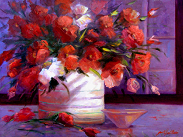 Floral Poster featuring the painting Love You Susi  by Gail Salitui