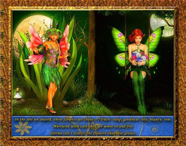 Fairies Poster featuring the digital art Love's Growth by Austin Torney