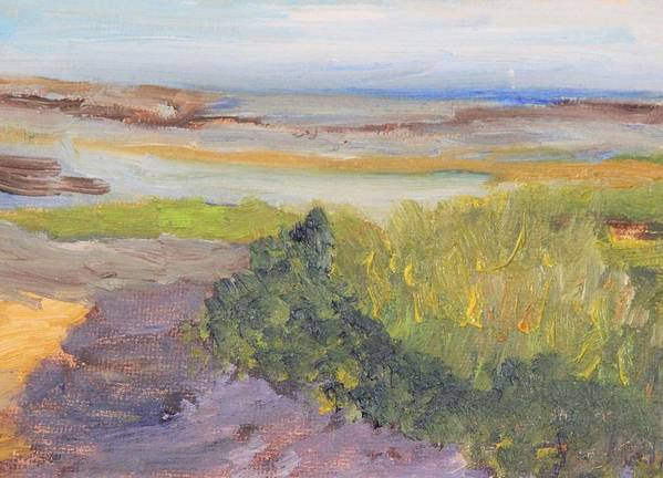 Eastham Poster featuring the painting Low Tide by Michael Helfen