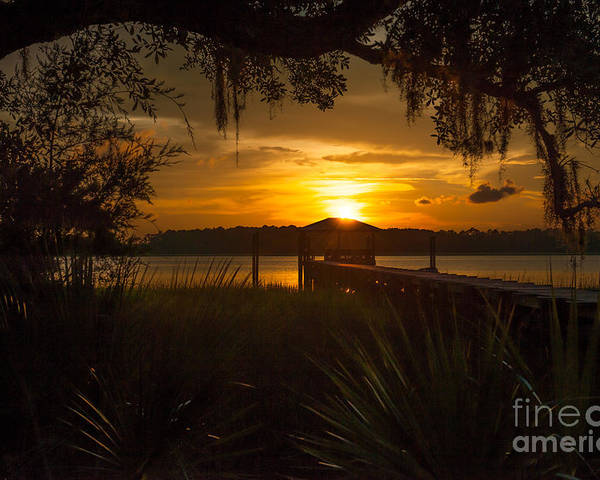 Sunset Poster featuring the photograph Lowcountry Scene by Dale Powell