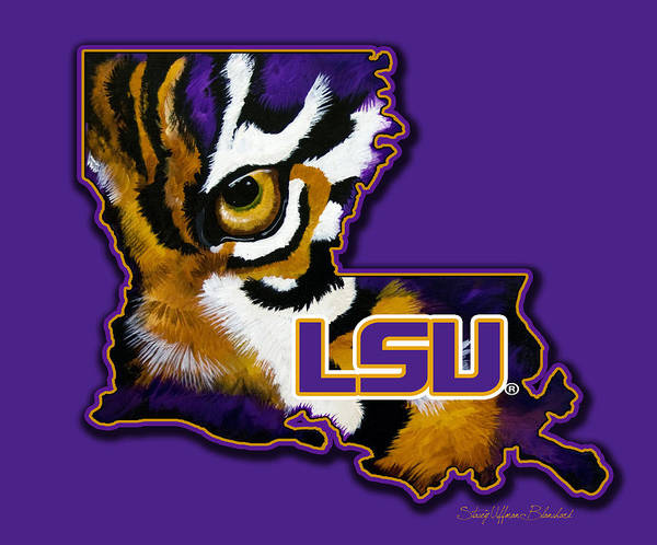 Lsu Louisiana Tiger Eye Poster Extraordinary Lsu Bedroom Style Painting