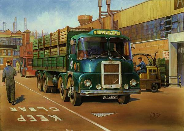 Original For Sale Poster featuring the painting Lucas Scammell Routeman I by Mike Jeffries