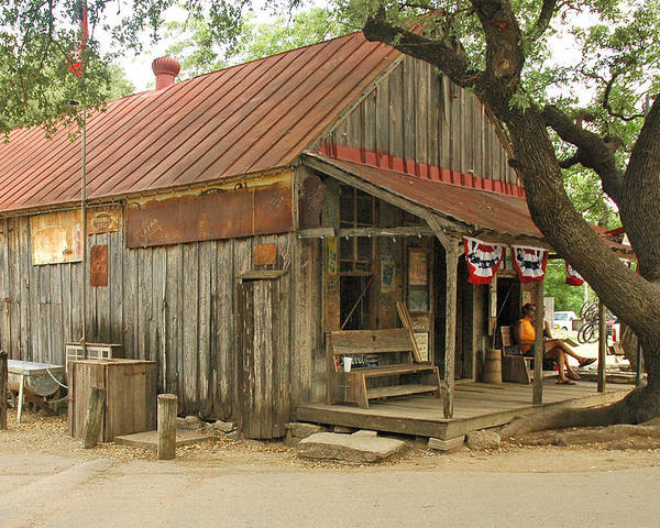 Luckenbach Poster featuring the photograph Luckenbach Store by Robert Anschutz