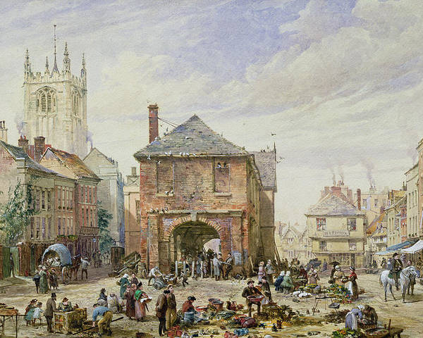 Ludlow Poster featuring the painting Ludlow by Louise J Rayner