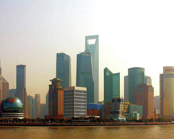 China Poster featuring the photograph Lujiazui - Pudong Shanghai by Christine Till