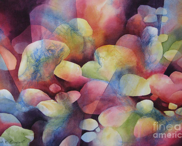 Abstract Poster featuring the painting Luminosity by Deborah Ronglien