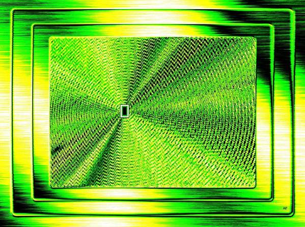 Abstract Poster featuring the digital art Luminous Energy 14 by Will Borden