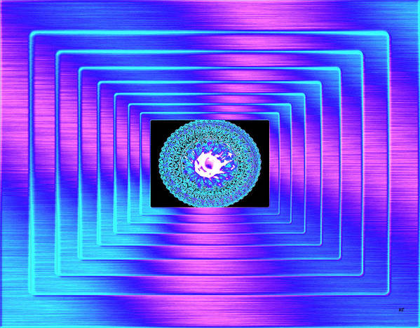 Abstract Poster featuring the digital art Luminous Energy 9 by Will Borden