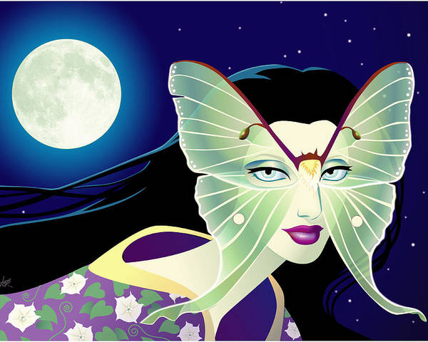 Butterfly Poster featuring the digital art Luna by Cristina McAllister
