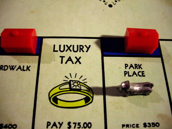 Luxury Poster featuring the painting Luxury Tax by Robert Cunningham