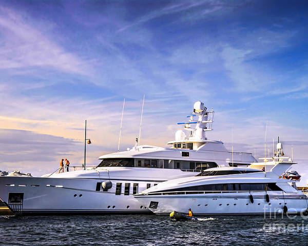 Yacht Poster featuring the photograph Luxury Yachts by Elena Elisseeva