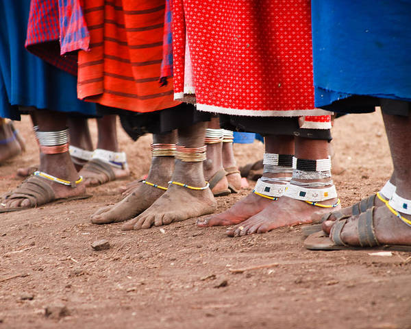 3scape Photos Poster featuring the photograph Maasai Feet by Adam Romanowicz