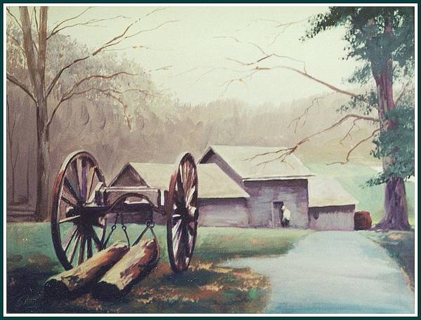 Landscape Poster featuring the painting Mabreys Mill by Barry Smith