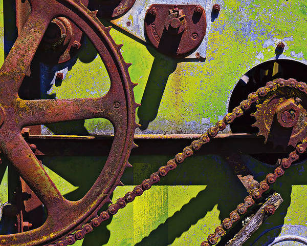 Machinery Poster featuring the photograph Machinery Gears by Garry Gay