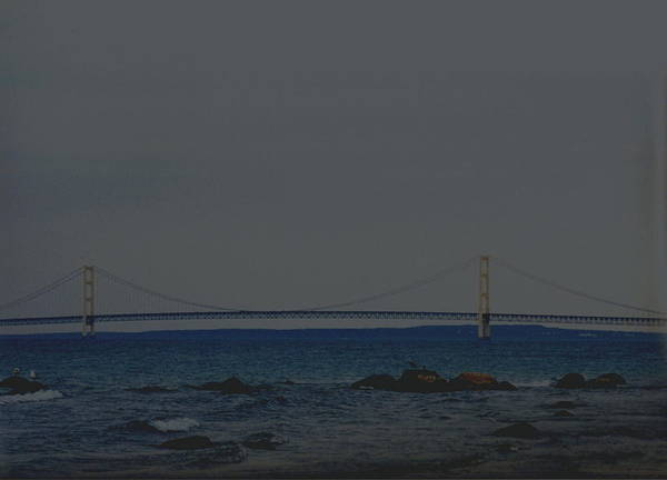 Bridge Poster featuring the photograph Mackinaw Bridge by Kevin Dunham
