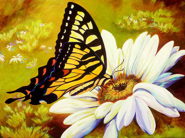 Butterfly Poster featuring the painting Madame Butterfly by Karen Dukes