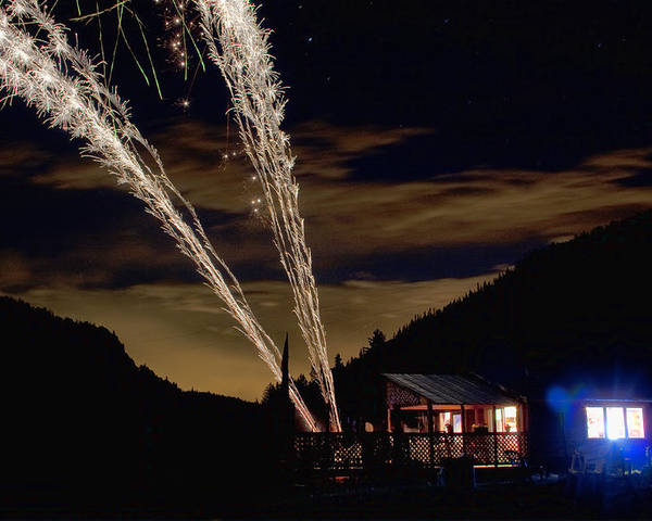Fireworks Poster featuring the photograph Magic Mountain by James BO Insogna