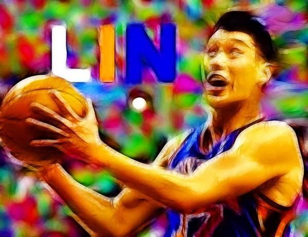 New York Poster featuring the digital art Magical Jeremy Lin by Paul Van Scott
