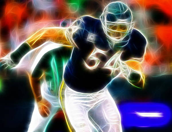 Chicago Poster featuring the painting Magical Urlacher by Paul Van Scott