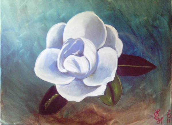 Magnolia Poster featuring the painting Magnolia by Loretta Nash