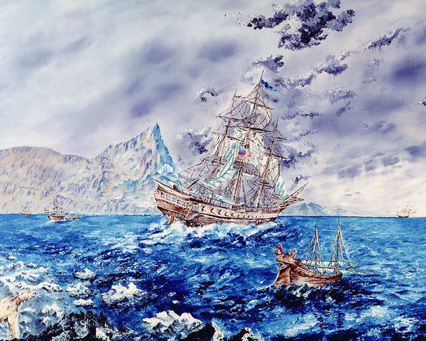 Tall Ships Poster featuring the painting Maiden Voyage by Richard Barham