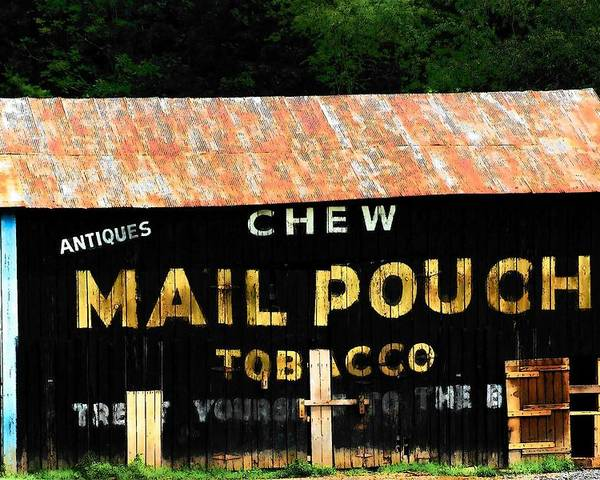 Mail Pouch Poster featuring the photograph Mail Pouch by Michael L Kimble