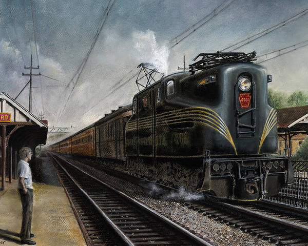 Trains Poster featuring the painting Mainline Memories by David Mittner
