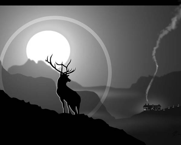 Elk Poster featuring the digital art Majestic Elk Stoneridge by Dana Bennett