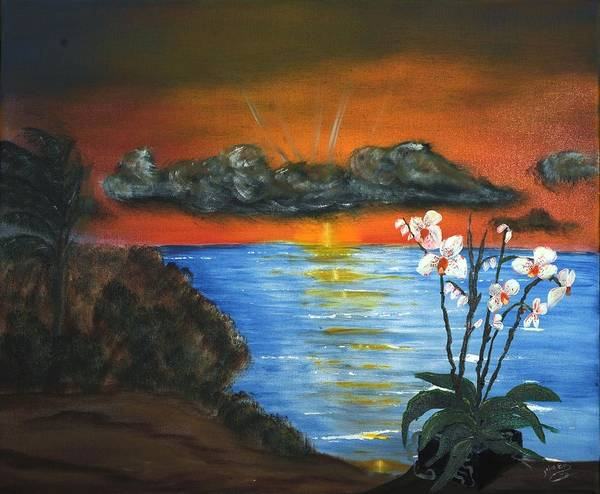 Landscape Poster featuring the painting Majestic Morning by Julia Ellis
