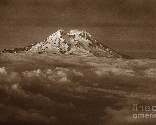 Mountains Poster featuring the photograph Majestic Mt. Rainier by Michael Ziegler