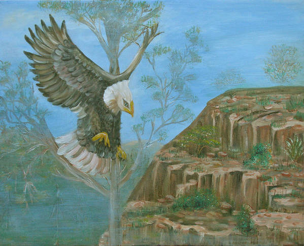 Eagle Poster featuring the painting Majestic Warrior by Mikki Alhart