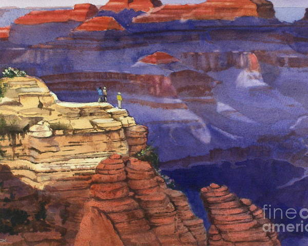 Grand Canyon Poster featuring the painting Majesty by Elizabeth Carr
